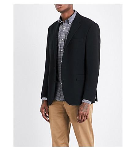 POLO RALPH LAUREN Hopsack-weave custom-fit wool jacket (Black