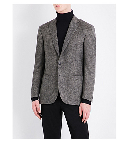 POLO RALPH LAUREN Donnegal custom-fit wool jacket (Grey