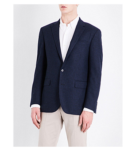 POLO RALPH LAUREN Houndstooth custom-fit wool jacket (Navy
