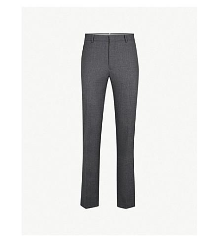 POLO RALPH LAUREN 壁画常规版型直羊毛裤子 (灰色