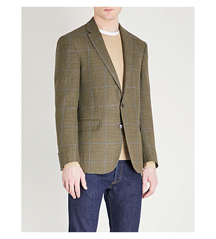 POLO RALPH LAUREN Checked custom-fit woven jacket (Olive