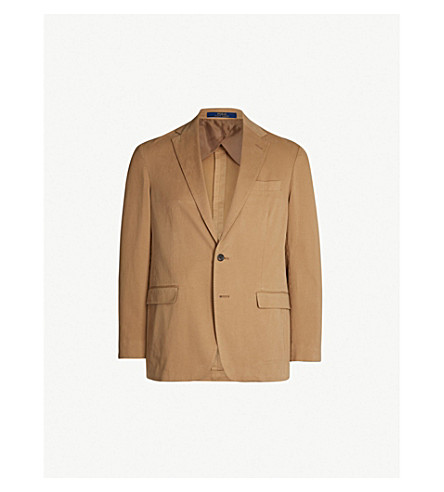 POLO RALPH LAUREN Morgan chino stretch-cotton suit jacket (Tan