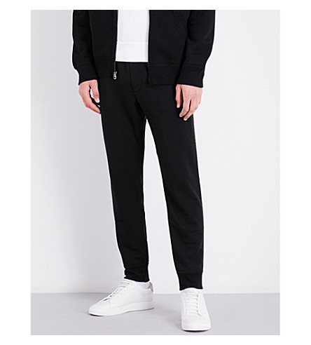 POLO RALPH LAUREN Tapered cotton-blend jogging bottoms (Polo+black