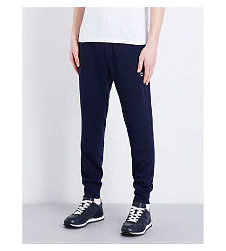 POLO RALPH LAUREN Fleece-lined cotton-blend jogging bottoms (French+navy