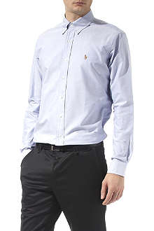 RALPH LAUREN Oxford custom–fit single cuff shirt