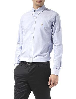 RALPH LAUREN Oxford single cuff shirt