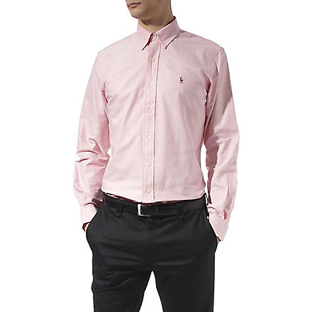 RALPH LAUREN Oxford custom–fit single cuff shirt (Pink