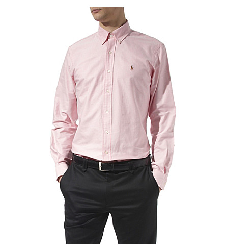 RALPH LAUREN Oxford single cuff shirt (Pink
