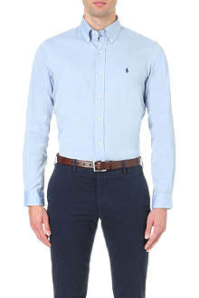 RALPH LAUREN Oxford custom-fit single cuff shirt