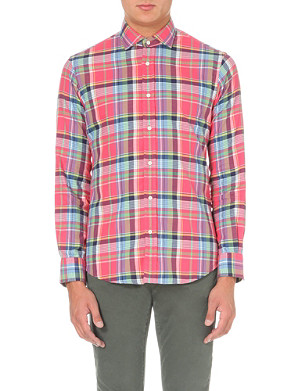 RALPH LAUREN Regular-fit single-cuff flannel shirt