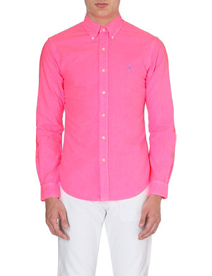 RALPH LAUREN Embroidered-logo cotton shirt