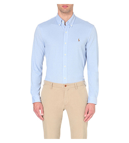 POLO RALPH LAUREN Regular-fit single-cuff cotton-piqué shirt (Harbor+island+b