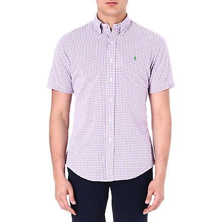 RALPH LAUREN Custom-fit gingham-print sport shirt (Su23c-lavender/