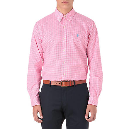RALPH LAUREN Custom-fit button-down shirt (Cr19a-ultra+pin