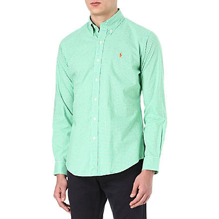 RALPH LAUREN Custom-fit button-down shirt (Cr19b-motor gre
