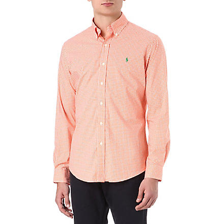 RALPH LAUREN Custom-fit button-down shirt (Cr19c-flare ora