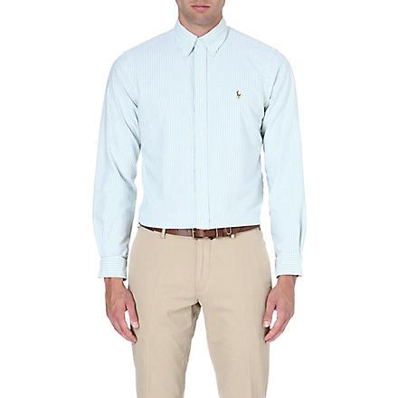 RALPH LAUREN Checked flannel shirt (Fl10b-green/whi