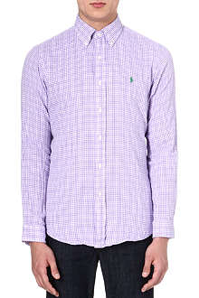 RALPH LAUREN Long-sleeved gingham shirt