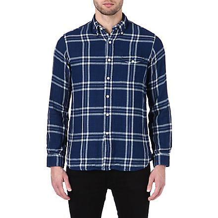 RALPH LAUREN Checked shirt (Cr08-indigo/nav