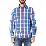 RALPH LAUREN Checked spread collar shirt