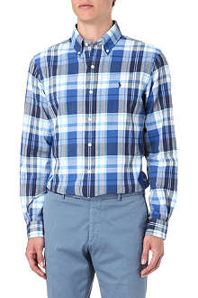 RALPH LAUREN Checked custom fit single cuff shirt
