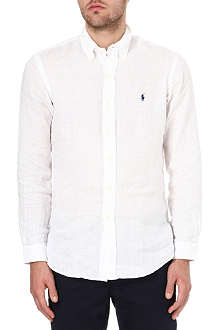 RALPH LAUREN Custom–fit single cuff sport shirt