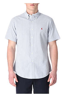 RALPH LAUREN Striped custom-fit short-sleeved shirt