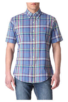 RALPH LAUREN Checked custom-fit short-sleeved shirt
