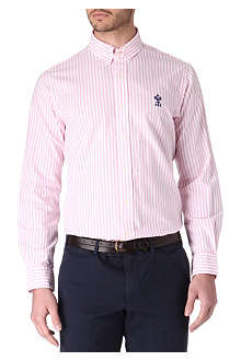 RALPH LAUREN Striped custom-fit tab-collar shirt
