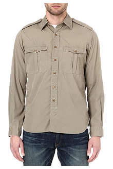 RALPH LAUREN Military epaulette shirt