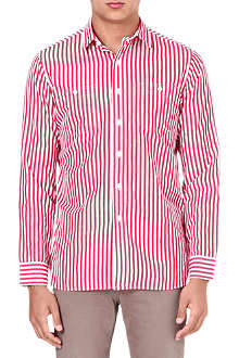RALPH LAUREN Striped cotton-blend shirt