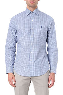 RALPH LAUREN Woven cotton sports shirt