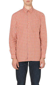 RALPH LAUREN Button-down checked cotton shirt