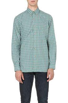 RALPH LAUREN Button-down checked cotton shirt