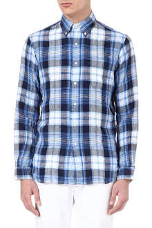 RALPH LAUREN Checked linen shirt