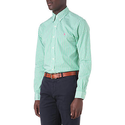 RALPH LAUREN Slim-fit striped shirt (Cr21b-motor gre