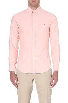 RALPH LAUREN Slim-fit button-down collar shirt