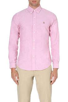 RALPH LAUREN Slim-fit button-down collar shirt