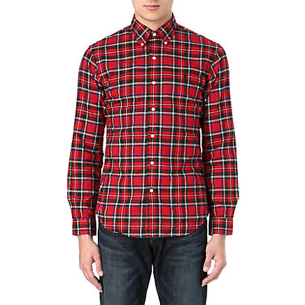 RALPH LAUREN Slim-fit checked shirt (Fl-199 red/gree