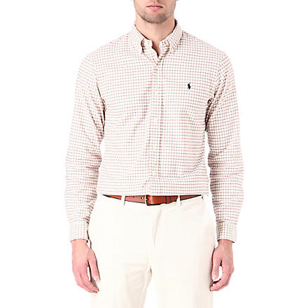 RALPH LAUREN Slim-fit checked shirt (Fl-218 cream/re