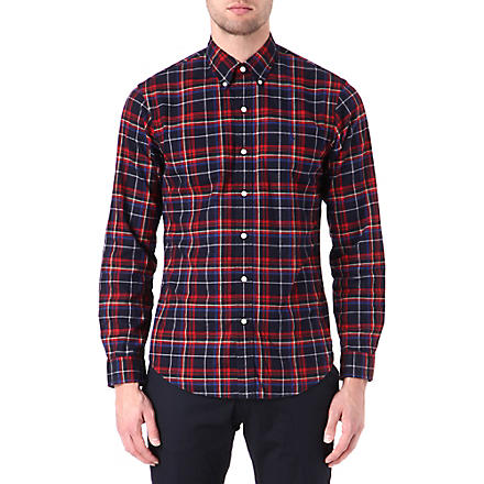 RALPH LAUREN Slim-fit checked shirt (Fl-219 navy/roy