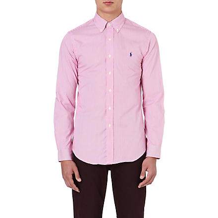 RALPH LAUREN Slim-fit cotton shirt (Fl200a-pink/whi