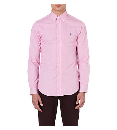 RALPH LAUREN Slim-fit cotton shirt (Fl200a-pink/whi