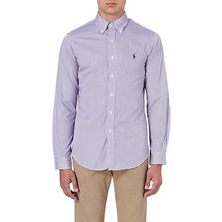 RALPH LAUREN Slim-fit cotton shirt (Fl200c-purple/w