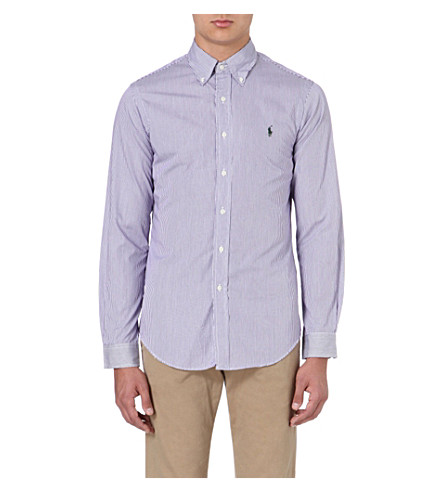 RALPH LAUREN Slim-fit cotton shirt (Fl200c-purple/w