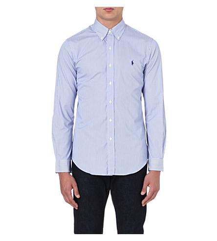 RALPH LAUREN Slim-fit cotton shirt (Fl200e-blue/whi