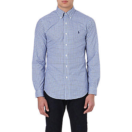 RALPH LAUREN Cotton check shirt (Fl61a-navy/corn