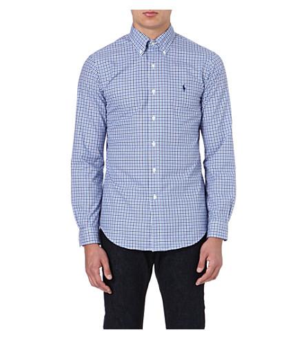 RALPH LAUREN Cotton check shirt (Fl61a-navy/corn