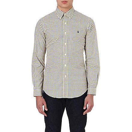 RALPH LAUREN Cotton check shirt (Fl61b-navy/yell