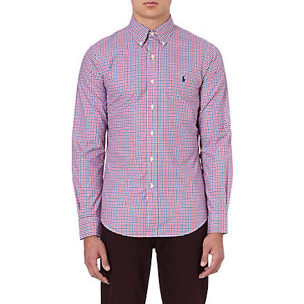 RALPH LAUREN Cotton check shirt (Fl61c-royal/ras